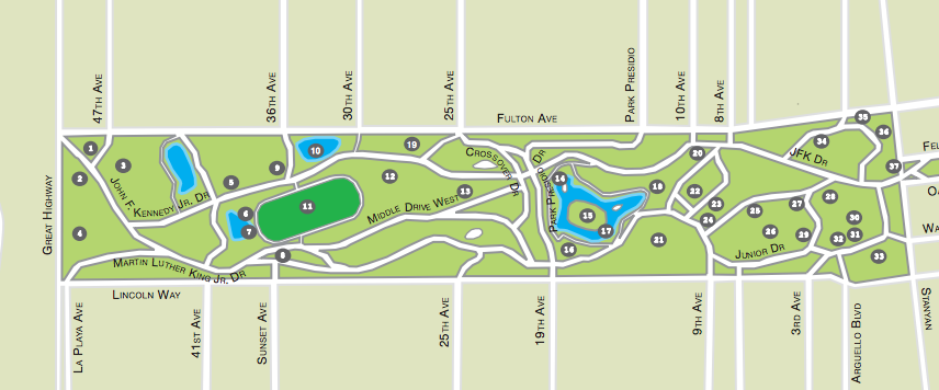 Golden Gate Park Map – Printable PDF