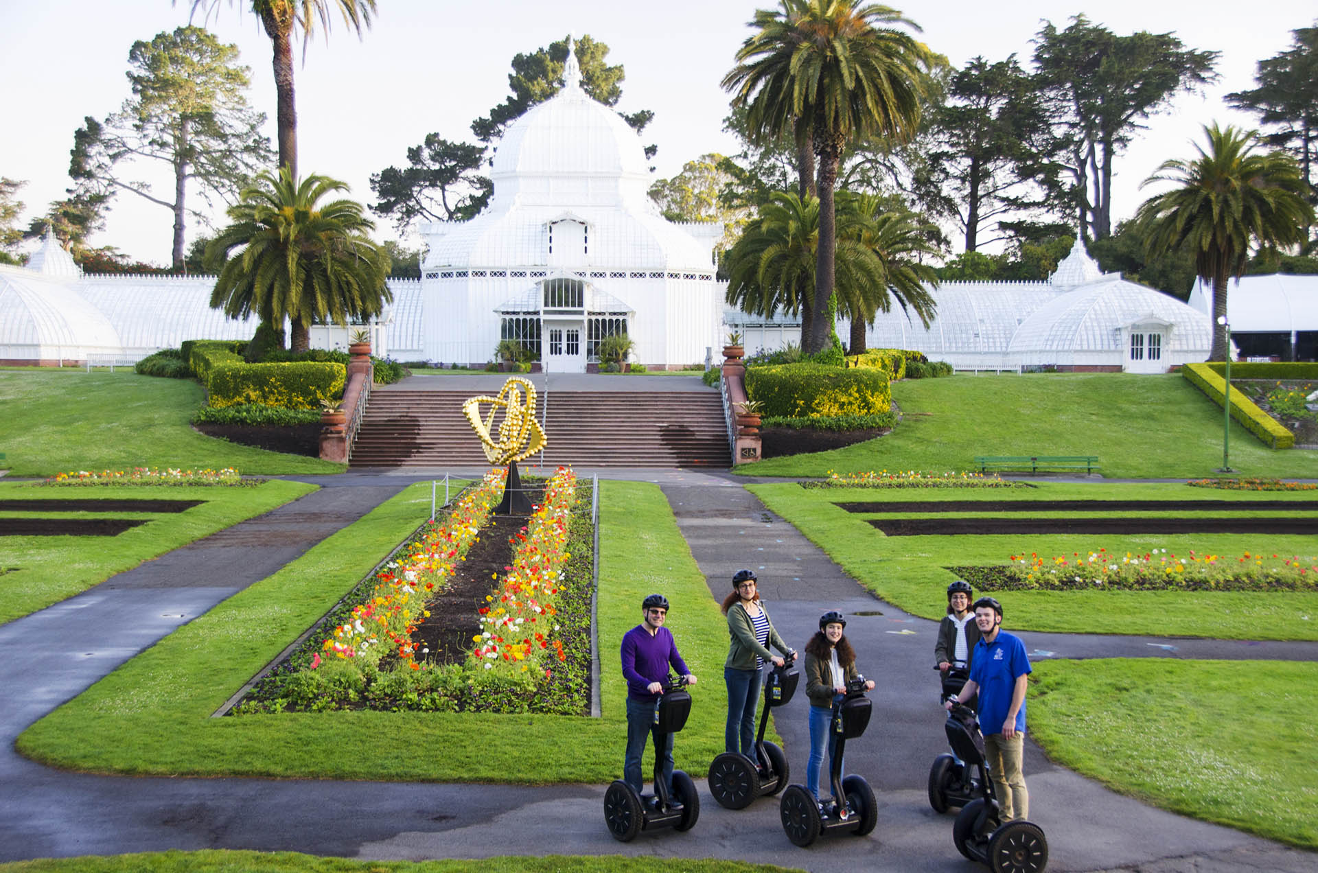 Golden Gate Park tour conservatory flowers segway